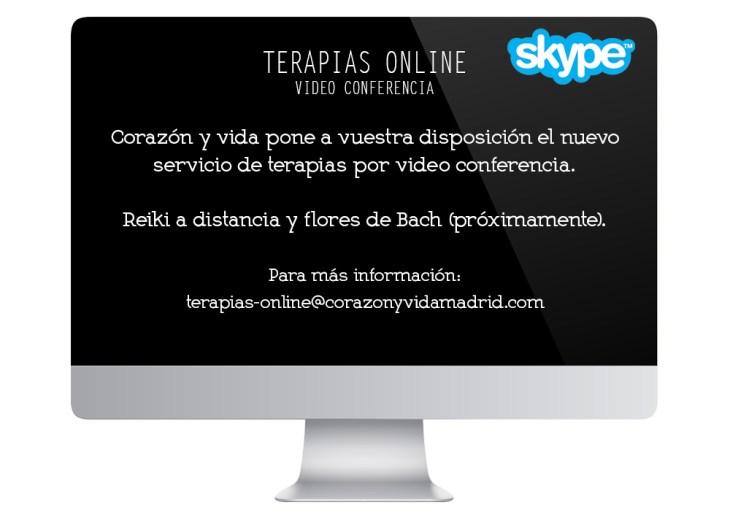 Terapias online - Corazón y vida - Sala Ecocentro - Tfno.: 675 829 401 (sólo WhatsApp) - 28003 - Madrid - info@corazonyvidamadrid.com