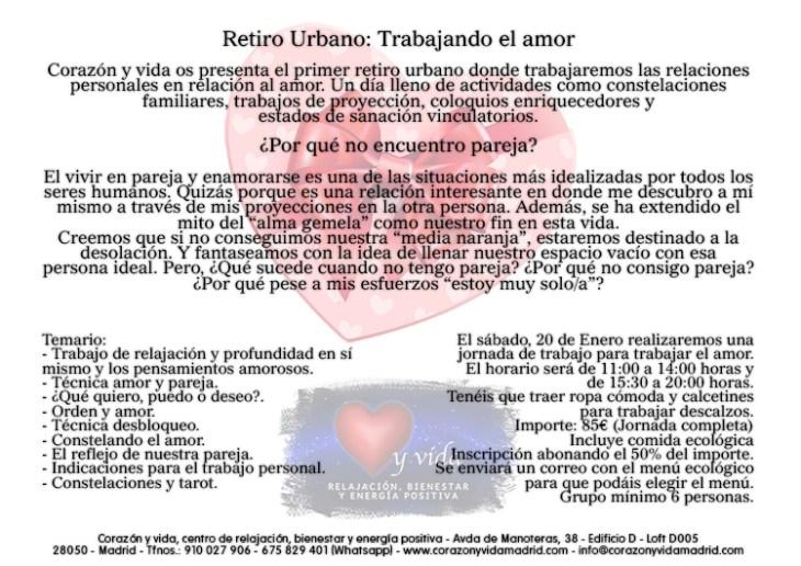Retiros urbanos - Corazón y vida - Sala 03 - Ecocentro - Tfno.: 675 829 401 (sólo WhatsApp) - 28003 - Madrid - info@corazonyvidamadrid.com