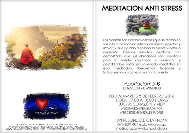 Clases de meditación - Corazón y vida - Avenida de Manoteras, 38 - Loft D005 - Manoteras / Virgen del Cortijo / Las Tablas / Sanchinarro - Tfnos.: 910 027 906 - 675 829 401 (sólo WhatsApp) - 28050 - Madrid
