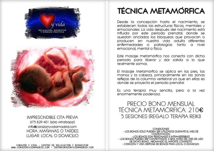 Masaje metamórfico - Corazón y vida - Sala 03 - Ecocentro - Tfno.: 675 829 401 (sólo WhatsApp) - 28003 - Madrid - info@corazonyvidamadrid.com