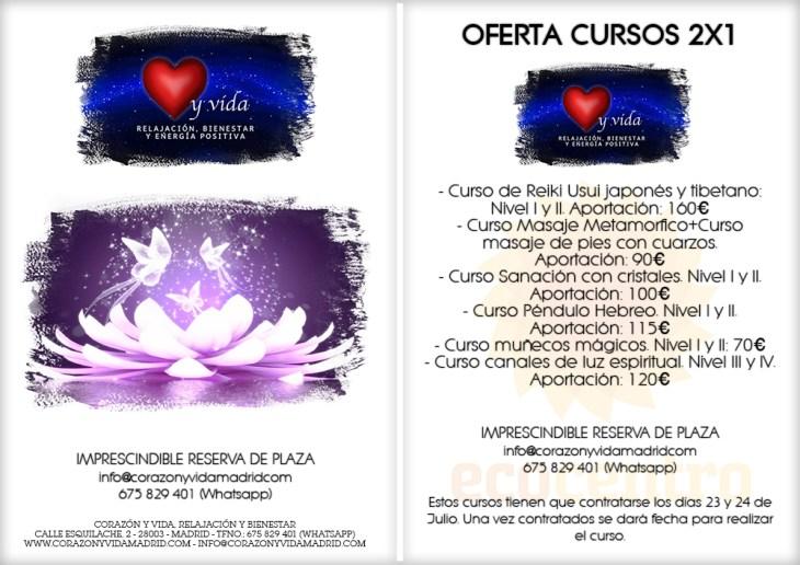 Promociones semanales - Corazón y vida - Sala 03 - Ecocentro - Tfnos.: 675 829 401 (sólo WhatsApp) - 28003 - Madrid - info@corazonyvidamadrid.com