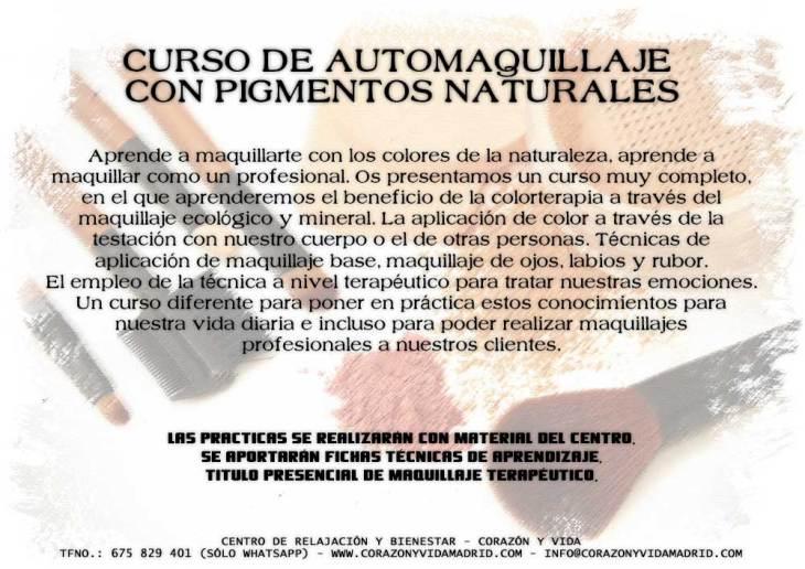 Curso de automaquillaje con pigmentos naturales - Corazón y vida - Madrid - Guadalajara - Tfno.: 675 829 401 (sóloWhatsApp) - info@corazonyvidamadrid.com