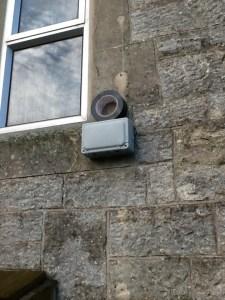 Outside wall