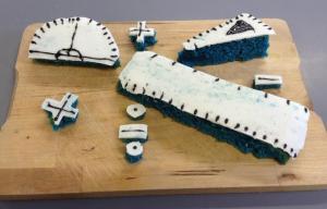 Very Precise Blue Cake - @7maths7 entry