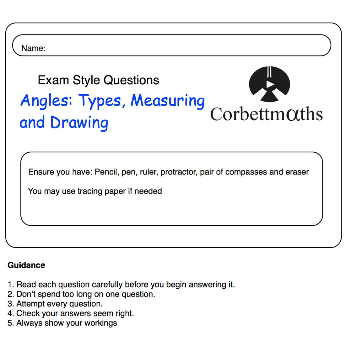 Pq Angles Types Measuring And Drawing Corbettmaths
