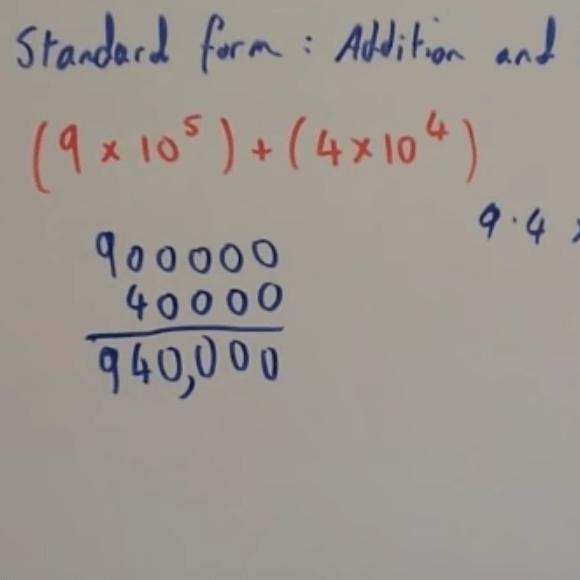 standard form addition Standard Form: Addition Video – Corbettmaths