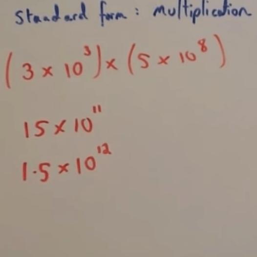 standard form multiplication Standard Form: Multiplication Video – Corbettmaths