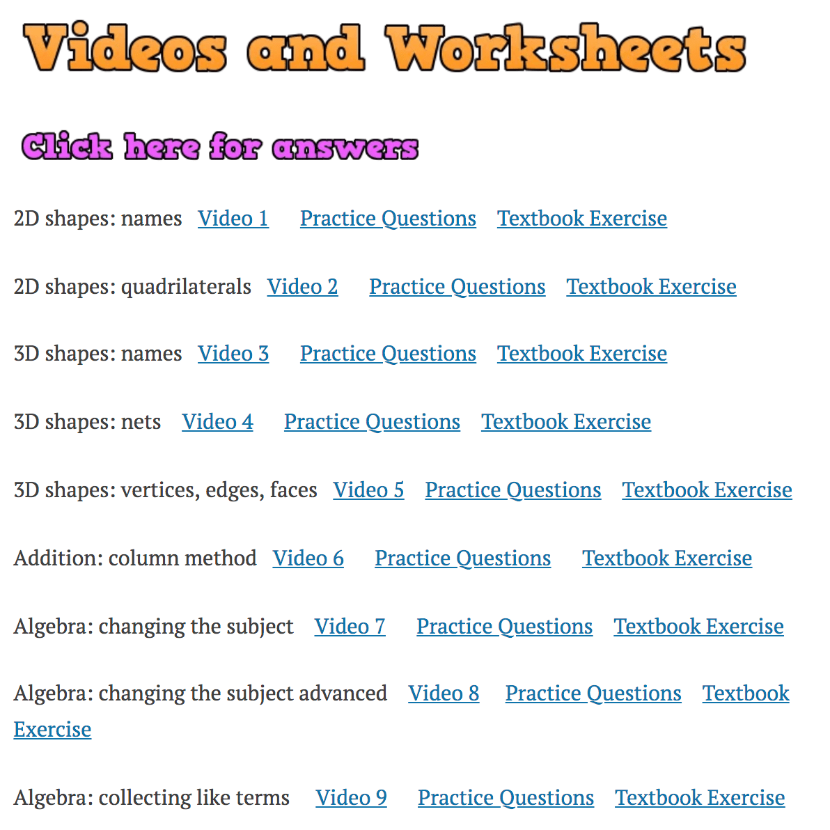 hight resolution of Videos and Worksheets – Corbettmaths