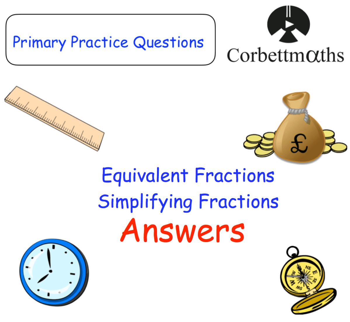 equivalent fractions and simplifying fractions answers