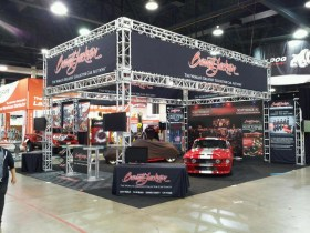 Barrett-Jackson SEMA trade show booth.