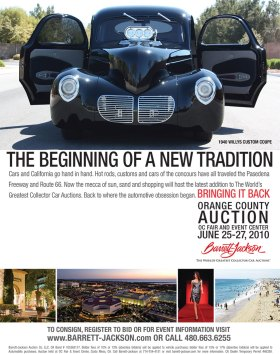 Barrett-Jackson Orange County 2010 Ad - designed by Corbin Snyder