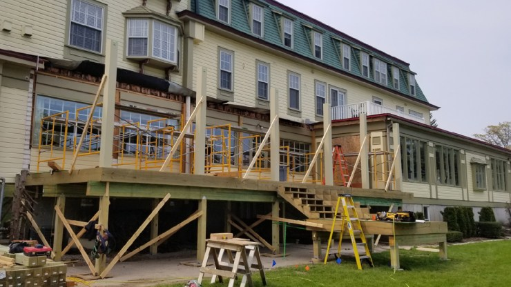 Bay View Inn Deck Project Underway – 3