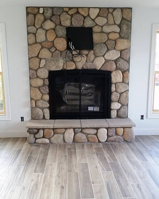 New Edition – BB Custom Stone Fireplace