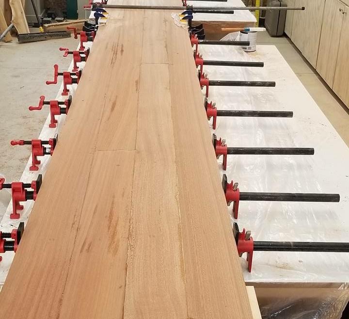 Clamping and Glue Custom Bar Top SA