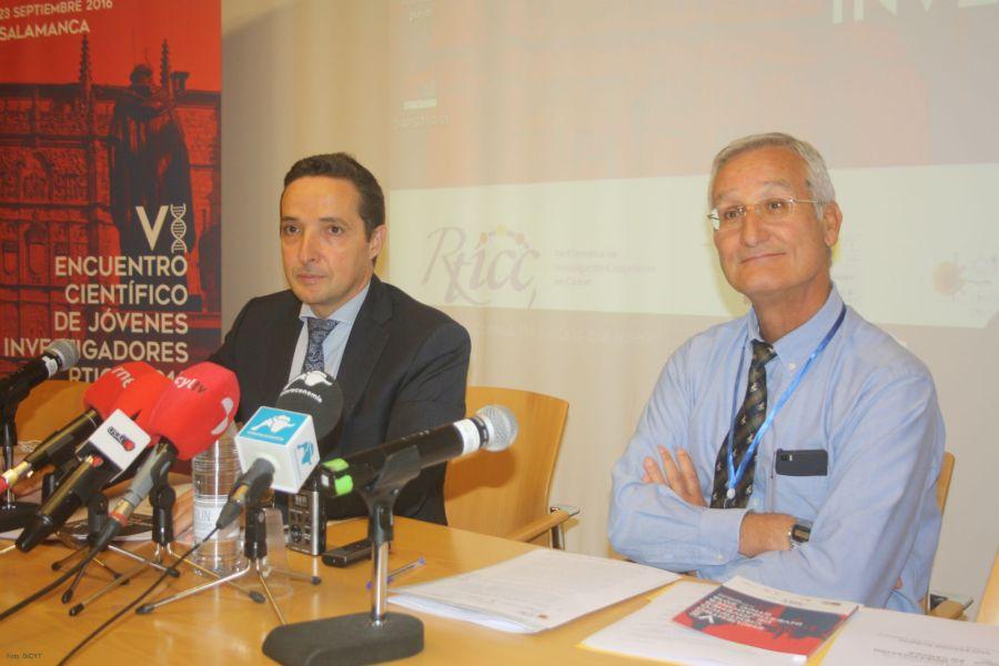 Con Eugenio Santos en la presentación de las jornadas.