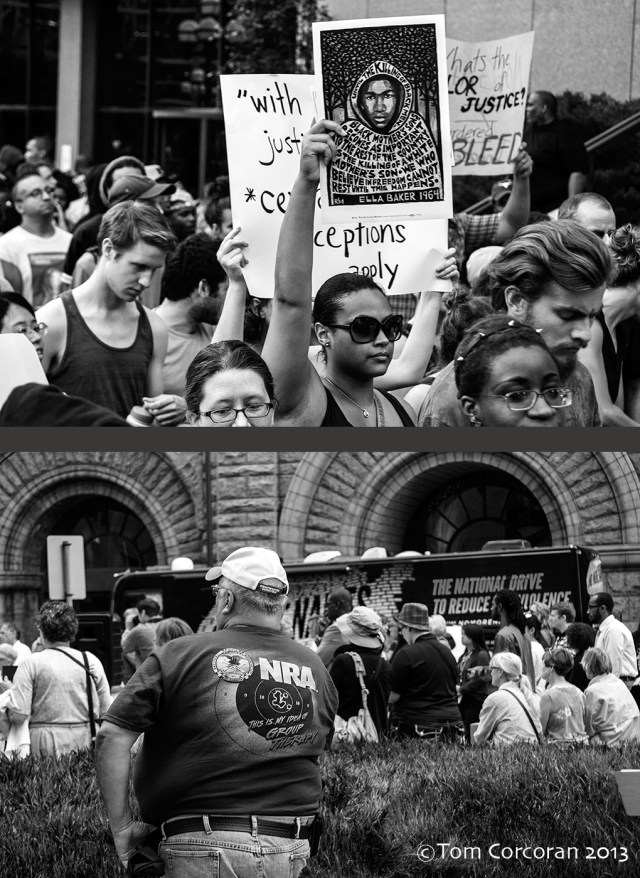 Top: Rally For Trayvon Bottom; No More Names