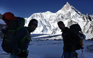 David Lama en el Masherbrum