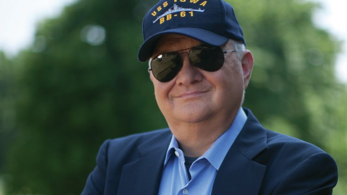 Tom Clancy, seen here in 2010, was an insurance agent before publishing The Hunt For Red October in 1984.