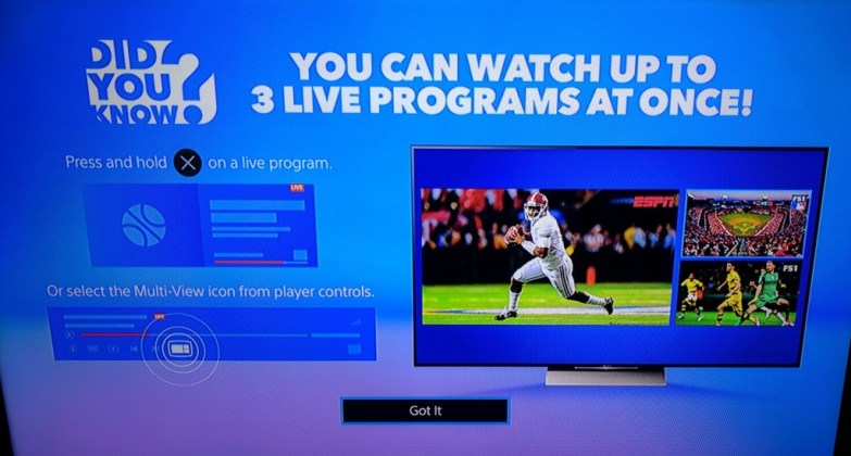 PlayStation Vue is Adding Multi Channel View to The Fire TV