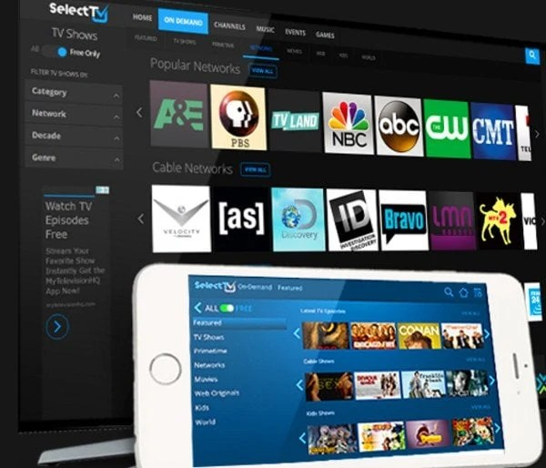 selecttv review: free online tv, but aggregated for a price