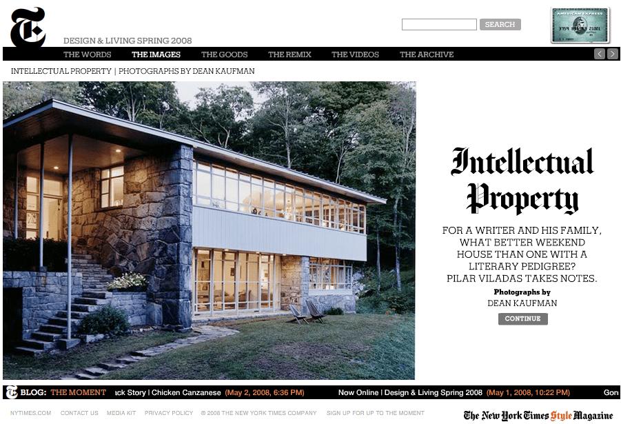 Bel titolo per un articolo su una casa di americani upper middle class che leggono tanti libri (oh che bello!)