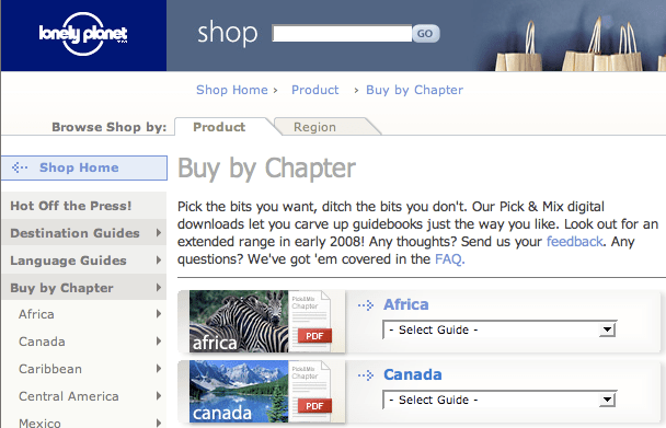 Lonely Planet vende le guide a capitoli