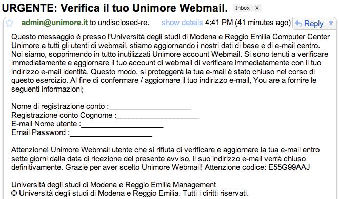 E-mail fasulla