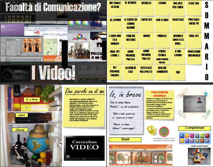 Andrea Pacchioni, Facoltà di comunicazione? I video!, 2008, p. 1-4