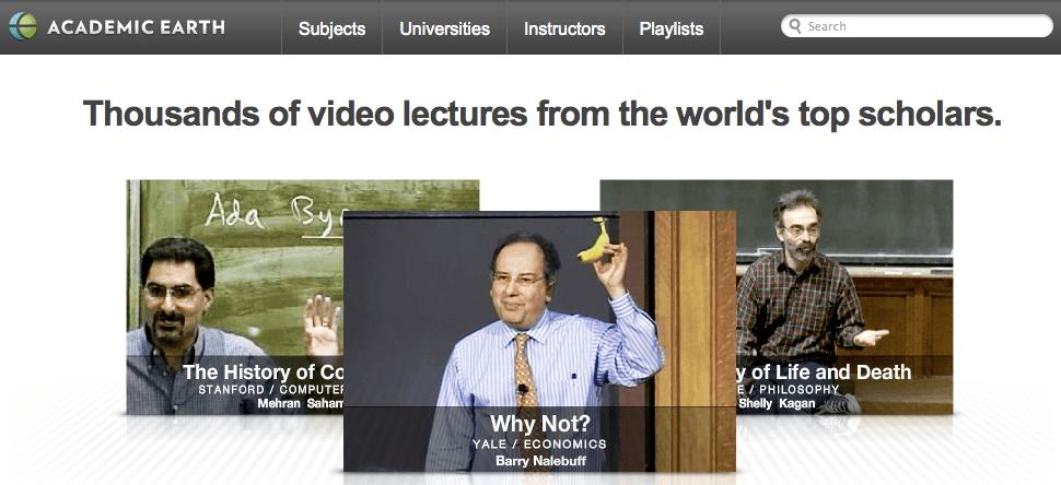 Academic Earth > Homepage