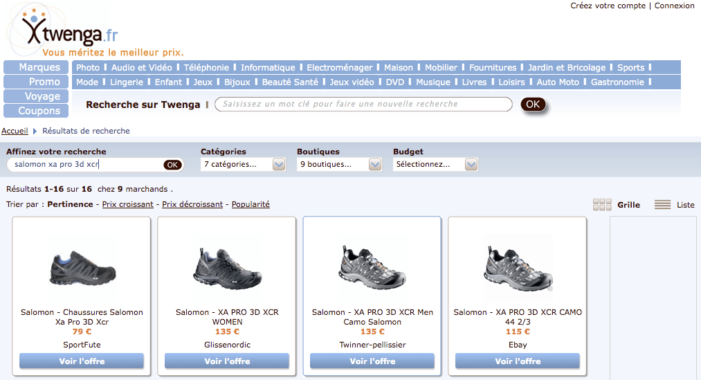 Twenga > scarpe Salomon XA pro 3D