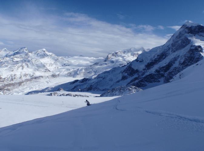 Furggsattel (Zermatt) > fuoripista al cospetto del Monterosa