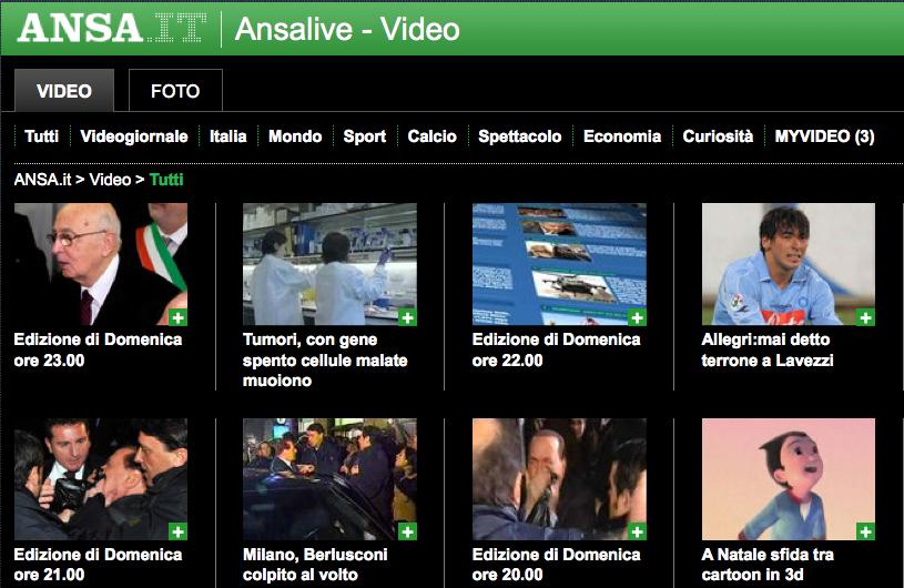 ANSA > 14.12.2009 > Video