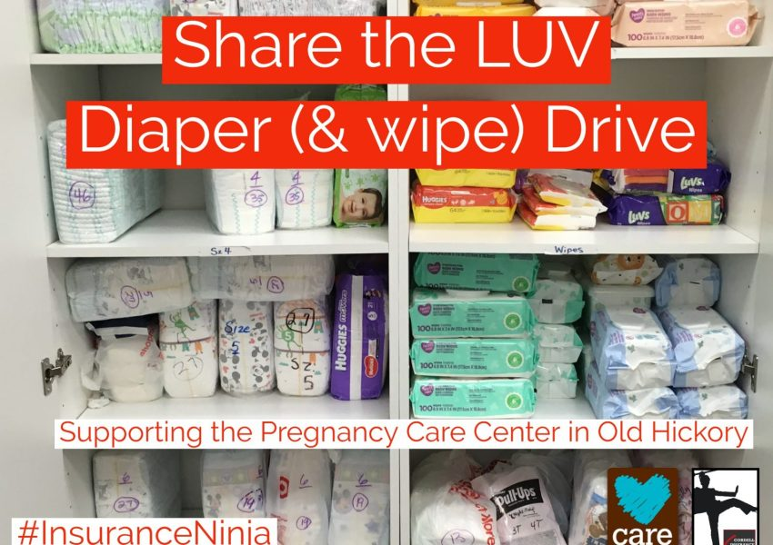 Diaper Drive supports the Pregnancy Care Center in Old Hickory