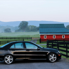 Black Car and Barn