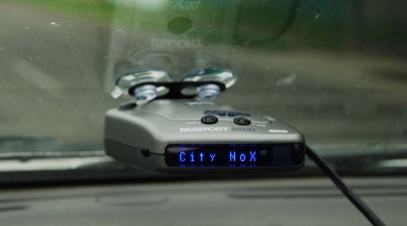 Positioned best cordless radar detector to determine the position of the police radar