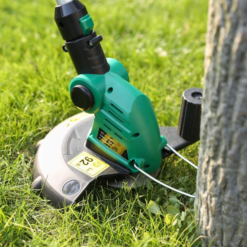 An image of the best cordless lawn edger showing the cutting string