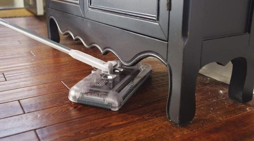 The best cordless sweeper in use to remove dirt from the floor