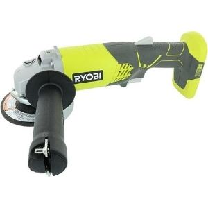 A picture of the RYOBI P421 4 ½ inch Angle Grinder; also a top model among the best cordless angle grinder that you can add to your tool collection