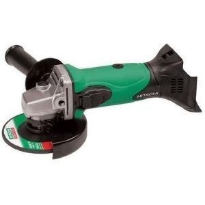 An image of HITACHI G18DSLP4 4-1/2 Angle Grinder. The unit is among the best cordless angle grinder that can be a useful addition in your workshop