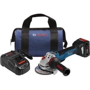 an image of BOSCH GWS18V-45PSCB14 Angle Grinder kit, one of the best cordless angle grinder unit