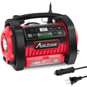 An image of Avid Power Tire Inflator Air Compressor, one of the best cordless air compressor you might consider having in your tool collection