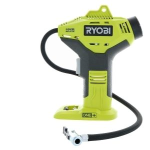 an image of the Ryobi P737 18-Volt ONE+ Portable Cordless Power Inflator for Tires, a great model in the family of the best cordless air compressors
