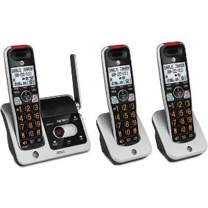 A picture showing AT&T CRL82312 3-Handset Expandable, a significant model among the best cordless phones with answering machine