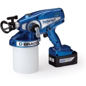 An image of Graco 16N657 TrueCoat Pro II Cordless Paint Sprayer. The unit is versatile and has the needed power to complete your work and thus an essential model among the best cordless paint sprayer unit