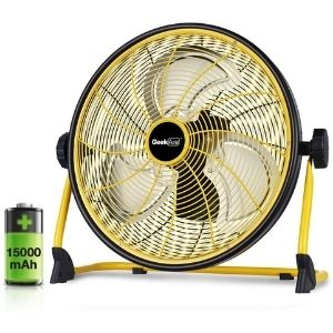 A picture of Geek Aire Rechargeable Outdoor High Velocity Floor Fan, one of the primary models among the best cordless fan with a higher power rating