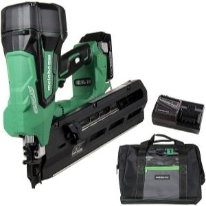 a picture of Metabo HPT, an energy efficient model among the best cordless framing nailer units