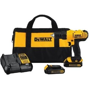 A picture of DEWALT 20V MAX Cordless Drill / Driver Kit, another powerful unit among the best cordless drill under $150