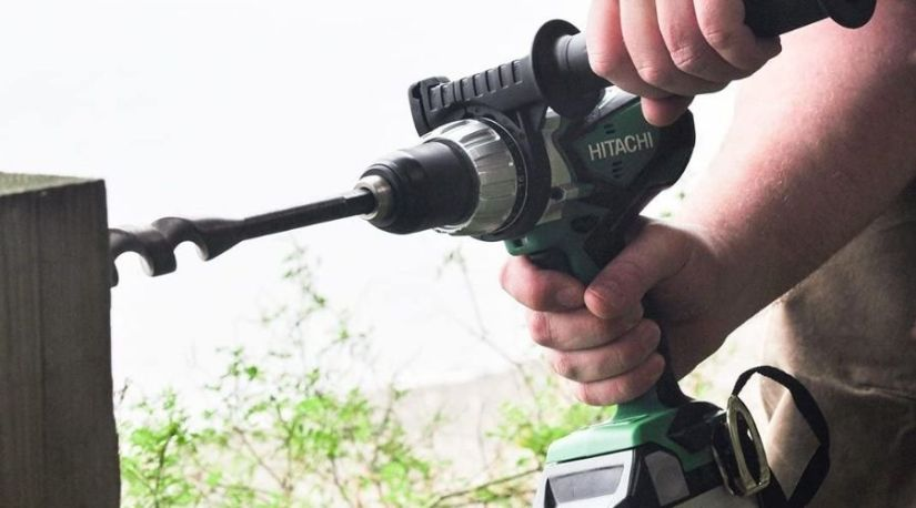 Hitachi DV18DSDL 18-Volt Lithium Ion Hammer Drill, one of the primary best cordless drill in use to drill through a wooden material