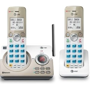 This image depicts AT&T DL72219 DECT 6.0 2-Handset Cordless Phone, a model inclusive of the connect to cell via Bluetooth feature making it count as one of the best at&t cordless phone systems
