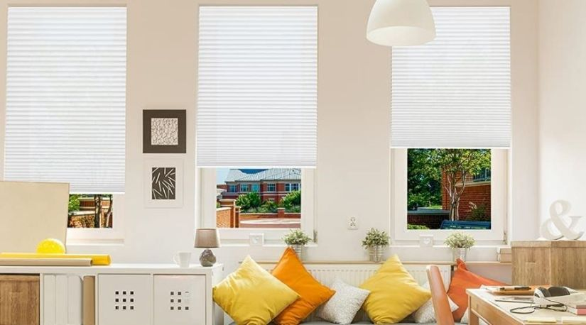 Corded vs. cordless blinds; an image of Redi Shade 3511069 Trim-at-Home Light Filtering Fabric White, x 64 in, one of the best cordless drills in the market, perfect for your home.